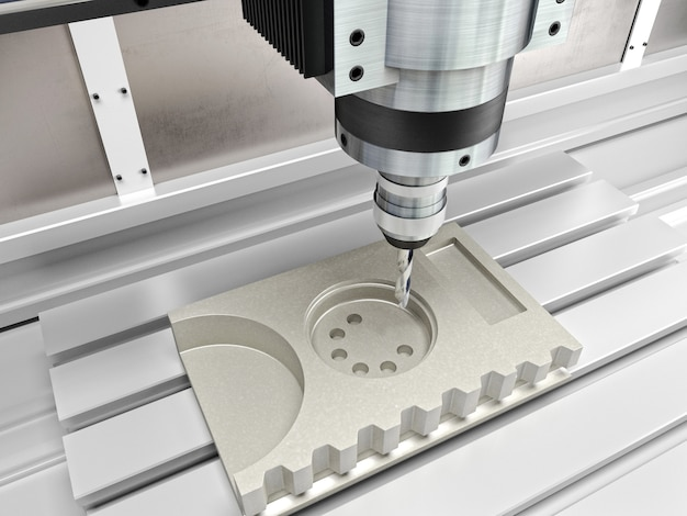 Cnc-maschine in aktion