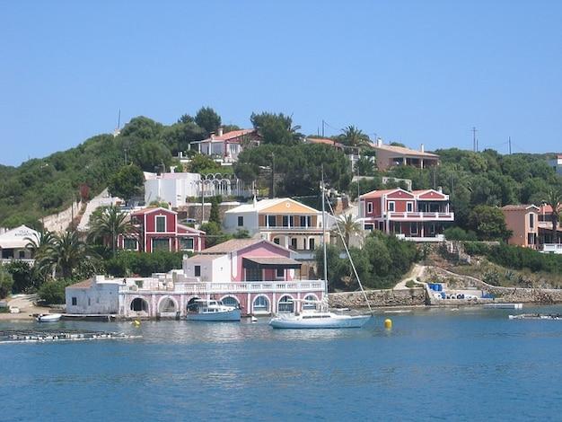 Coast villa bank menorca villen meer