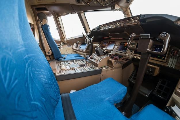 Cockpit des flugzeuges