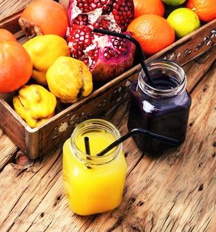 Cocktail mit frischen säften