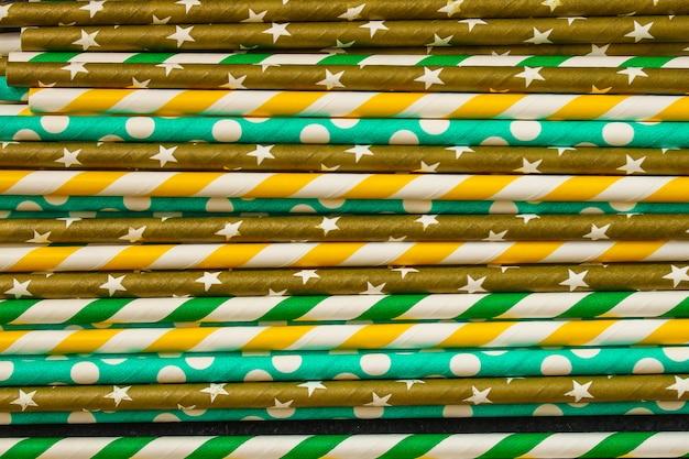 Cocktailtuben aus papier, umweltprodukt