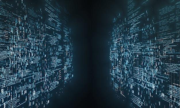 Codierung von computersoftware mit abstrakten binärdaten