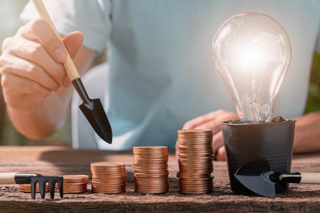 Coin ideas glühbirne ideen gestapelt statt zu gedeihen