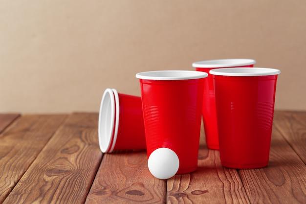 College party sport - bier pong