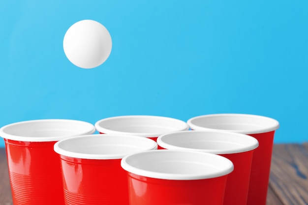 College party sport - bier pong