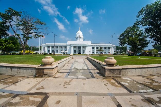 Colombo-stadt, die sri lanka errichtet