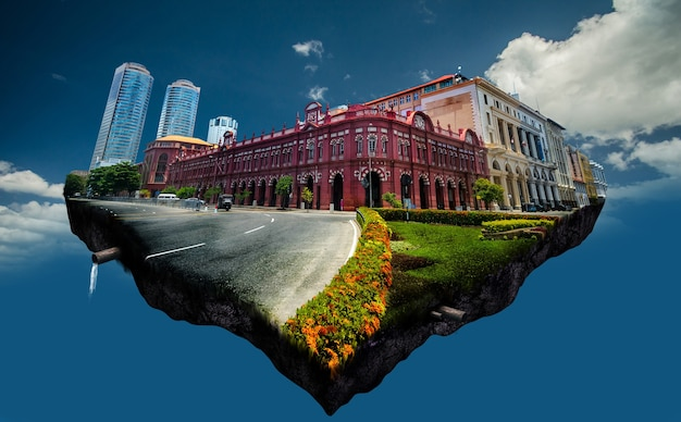 Colombo-stadt in sri lanka fotomanipulation