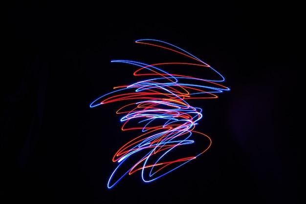Color light lamp move twist bei langzeitbelichtung im dunkeln.