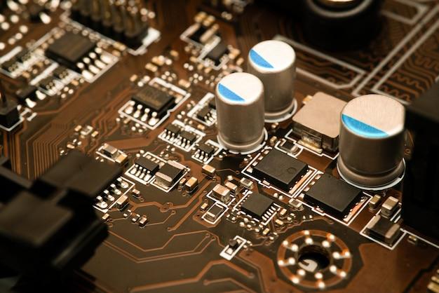 Computer digitaler chip mit hauptplatine