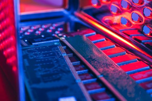 Computer-direktzugriffsspeicher (ram) schließen