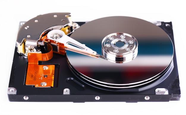 Computer-festplattenlaufwerk, nahaufnahme