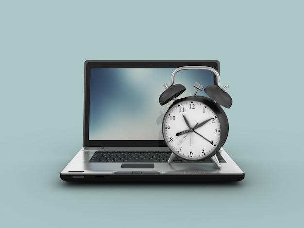 Computer-laptops mit wecker