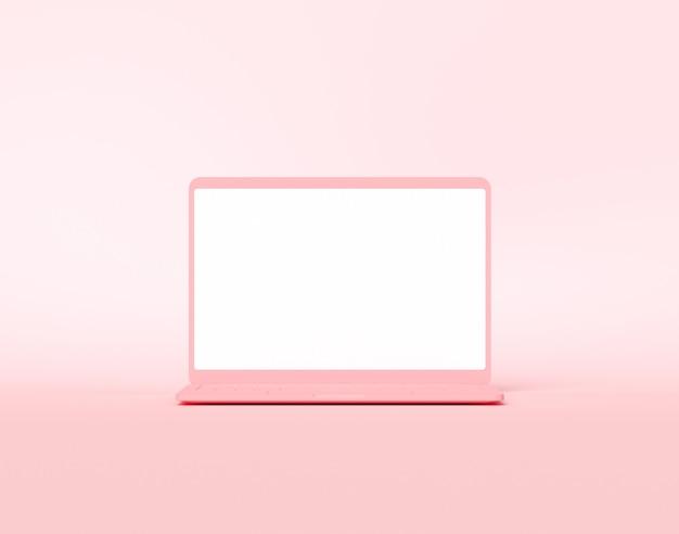 Computer-notebook mit leerem bildschirm