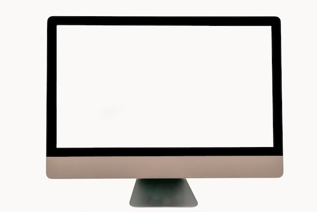 Computerbildschirmanzeige getrennt auf weißem hintergrund
