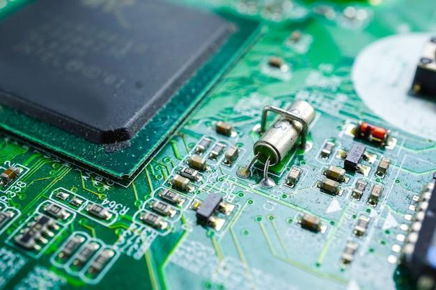 Computerkreis-cpu hauptplatine elektronikgerät: konzept der hardware und technologie.