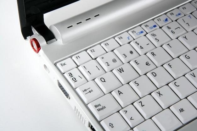 Computerlaptop-tastatur-nahaufnahmemakro