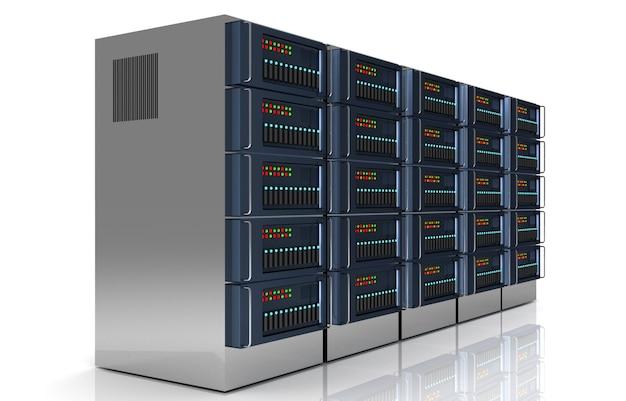 Computernetzwerkkonzept. internet-server. 3d-darstellung