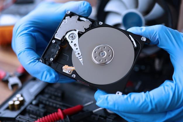 Computerteile prüfen, motherboard reparieren