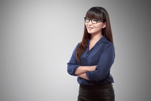 Confindent asiatische geschäftsfrau