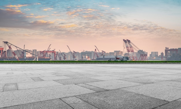 Containerlager des qingdao-hafenterminals