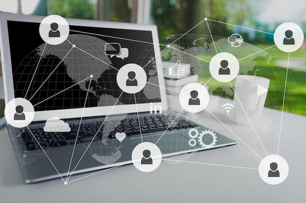 Content-marketing content-daten blogging medienpublikation information vision konzept