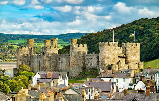 Conwy castle, unesco-welterbe in wales, vereinigtes königreich