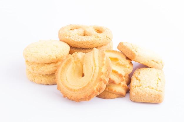 Cookie auf weißem hintergrund
