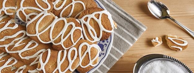 Cookies-banner-detail, banner-bild mit kopienraum