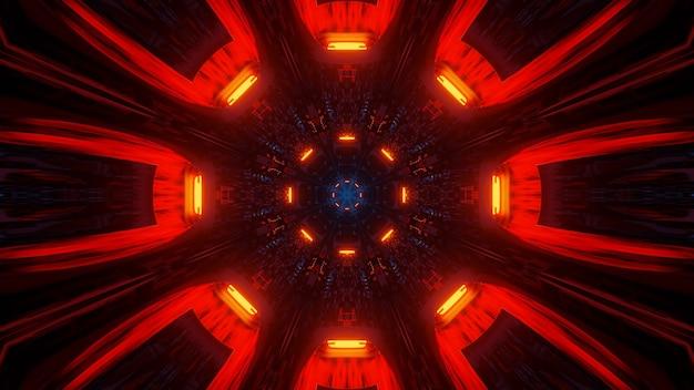 Coole illustration mit geometrischen formen und neonlaserlichtern - perfekt für tapeten
