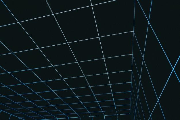 Cooler abstrakter raum der virtuellen realität, der untergeht