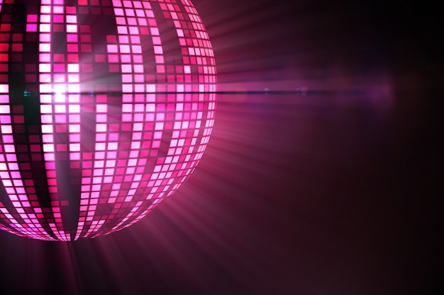 Cooler discokugelentwurf im rosa