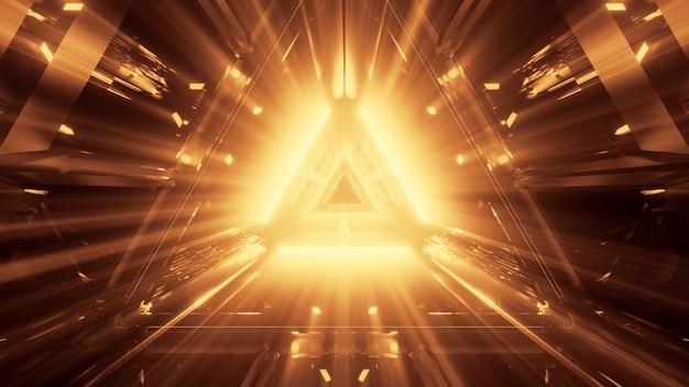 Cooler futuristischer abstrakter hintergrund mit leuchtendem neonlicht