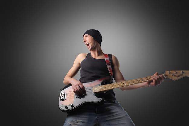 Cooler musiker-gitarrist