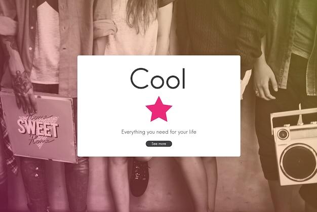 Cooler style modischer sinn trendy