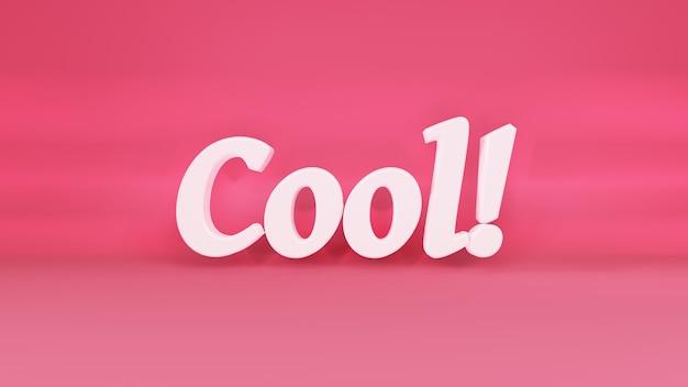 Cooles 3d-logo auf hintergrund mit schatten