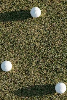 Copy-space-golfbälle
