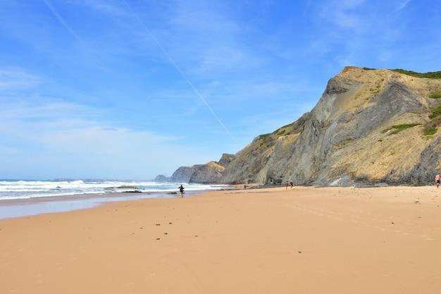 Cordoama strand, vila tun bispo, algarve, portugal