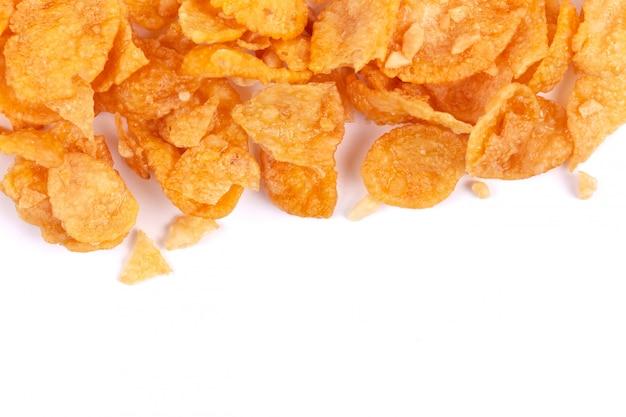 Corn-flakes und beschaffenheit, corn-flakes-müslischachtel zum morgenfrühstück