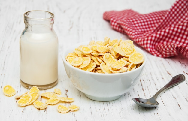 Cornflakes mit milch
