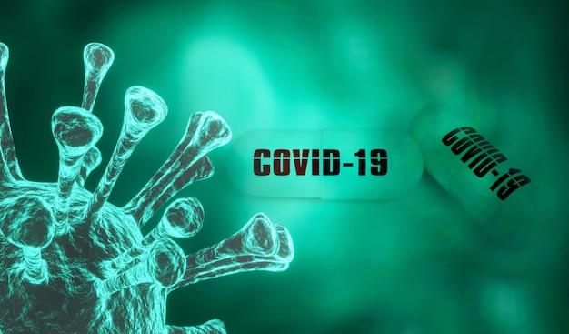Coronavirus 2019ncov neuartiges coronavirus-konzept, das für coronaviren-influenza verantwortlich ist