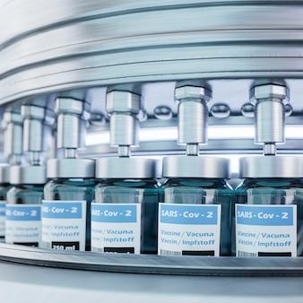 Coronavirus-impfstoffherstellung mit maschine