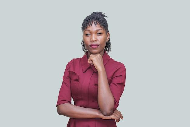 Corporate casual smart afrikanische frau händchen haltend