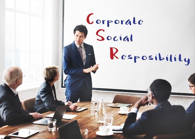 Corporate social responsibility meeting-konzept