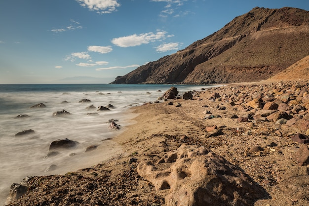 Corralete strand. naturpark von cabo de gata. spanien.
