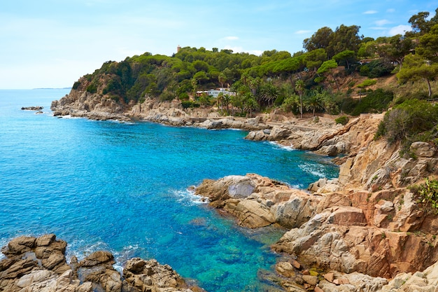 Costa brava strand lloret de mrz katalonien spanien