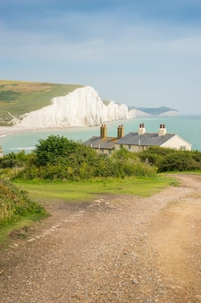 Cottages & 7 seven sisters, brighton, england