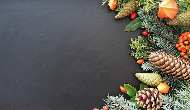 Cover-etikett oder postkarte banner-cover mit blumenrahmen aus pflanzen hintergrund