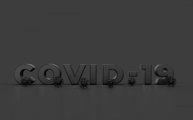 Covid-19, coronavirus 2019-ncov neuartiges coronavirus-konzept. ansteckung und vermehrung des krankheitserregers influenza covid. virenschutzkonzept. 3d-rendering
