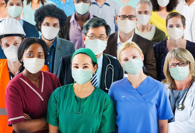 Covid-19 frontline-gesundheitswesen und wichtige arbeitskräfte