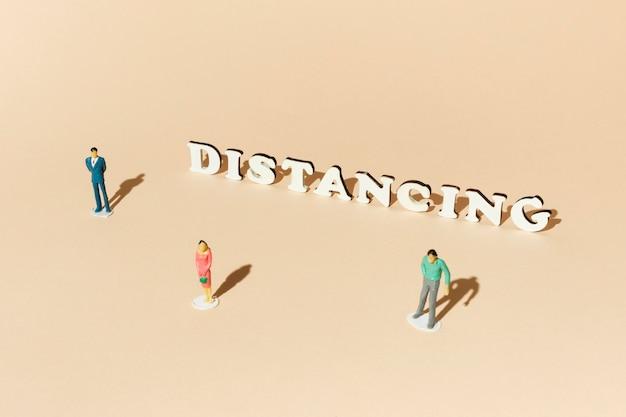 Covid konzept soziale distanzierung